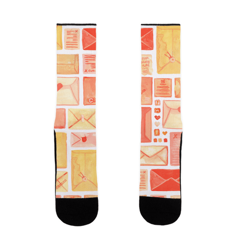 Love Letter Pattern Sock