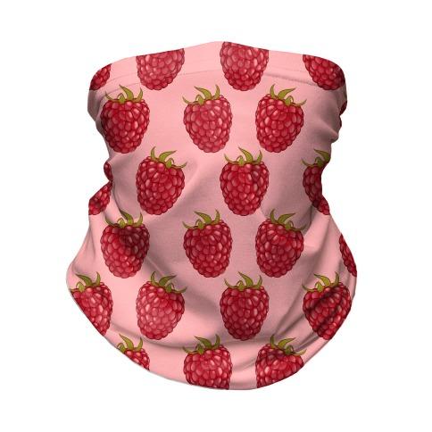 Raspberry Pattern Pink Neck Gaiter
