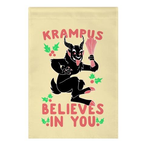 Krampus Believes in You Garden Flag