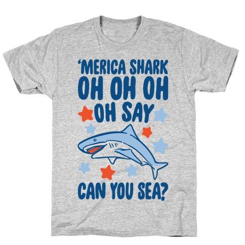 'Merica Shark Parody T-Shirt