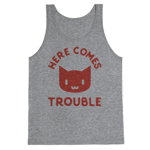 Here Comes Trouble Cat Tank Top