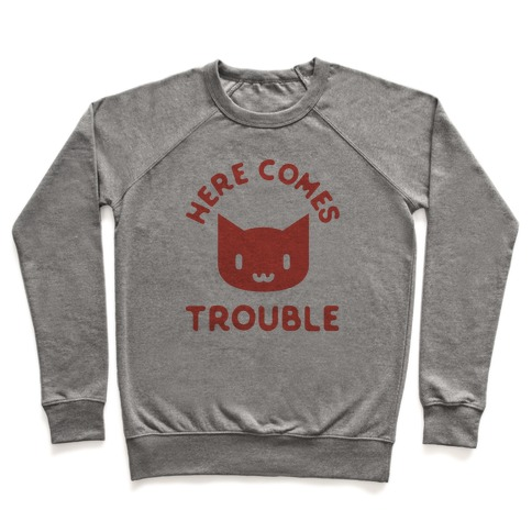 Here Comes Trouble Cat Pullover
