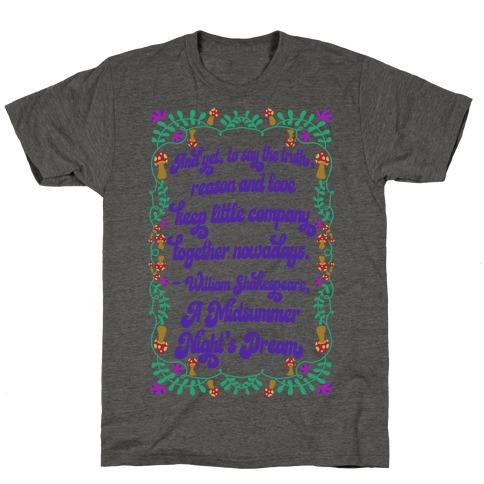 A Midsummer Night's Dream Quote T-Shirt