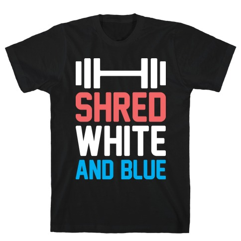 Shred White And Blue T-Shirt