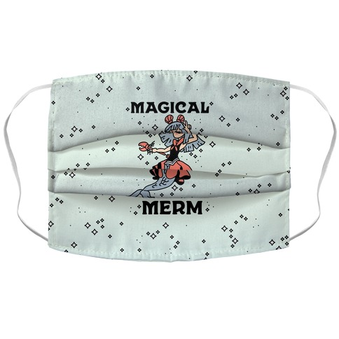 Magical Merm Accordion Face Mask