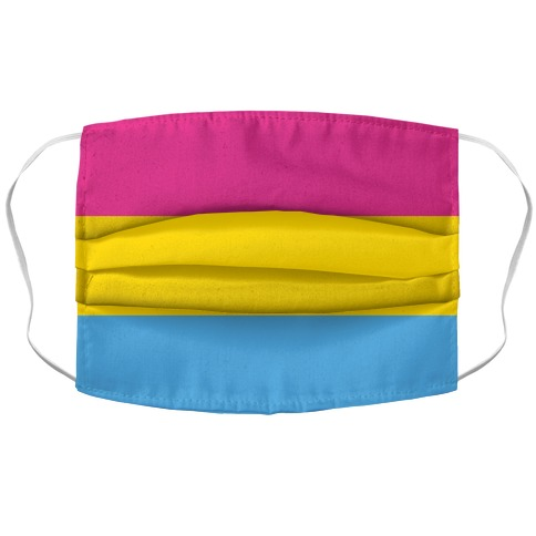 Pansexual Flag Accordion Face Mask
