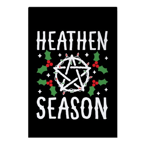 Heathen Season Christmas Garden Flag