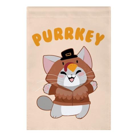 Purrkey Garden Flag