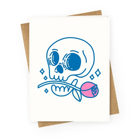 Hopeless Romantic Skull Greeting Card