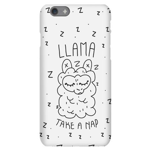 Llama Take a Nap Phone Case