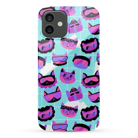 Gnarly Snowboard Cats Phone Case
