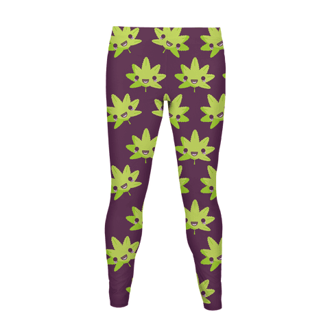 Kawaii Pot Leaf Women's Legging