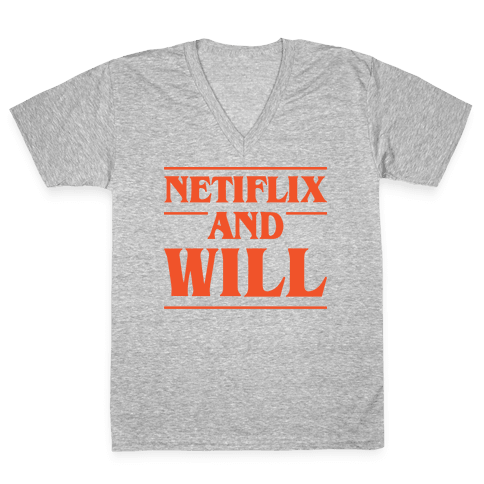 Netflix And Will V-Neck Tee Shirt
