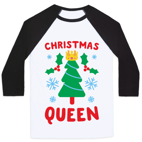 Christmas Queen Baseball Tee