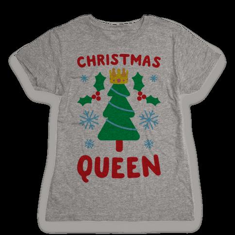 Christmas Queen Womens T-Shirt