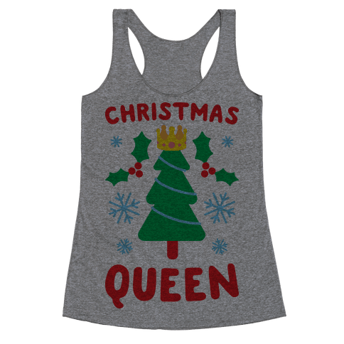 Christmas Queen Racerback Tank Top