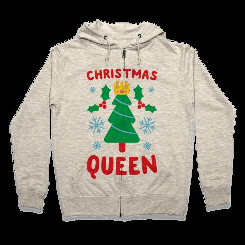 Christmas Queen Zip Hoodie