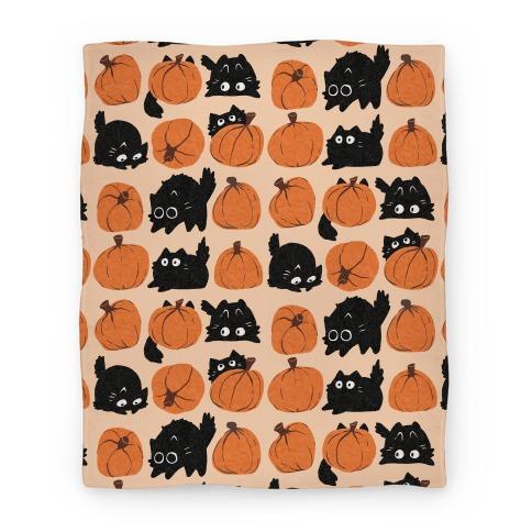 Pumpkin Cats Blanket