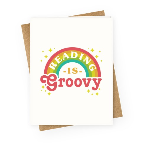 Reading is Groovy Greeting Card