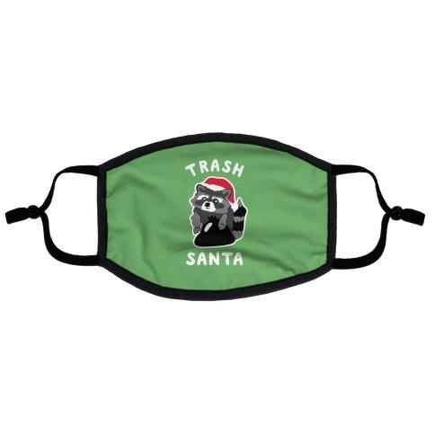 Trash Santa Flat Face Mask