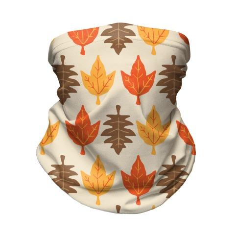 Autumn Leaves Pattern Neck Gaiter