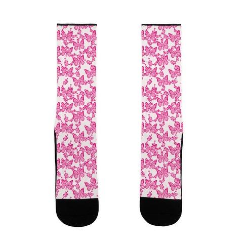 Butterfly Vagina Pattern Sock