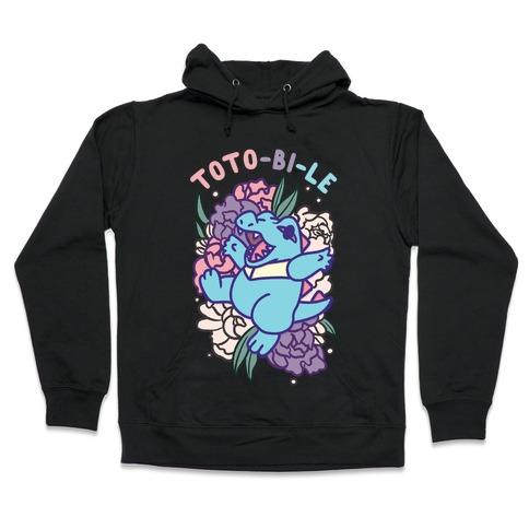 Toto-bi-le Totodile Bisexual Parody Hooded Sweatshirt