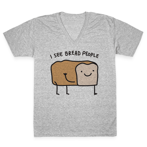 I See Bread People V-Neck Tee Shirt