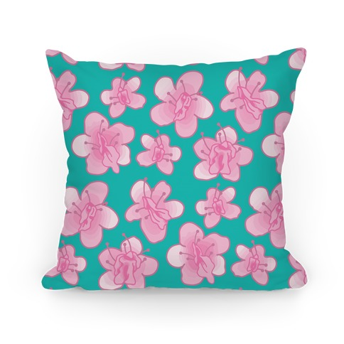 Cherry Blossom Vagina Pattern Pillow