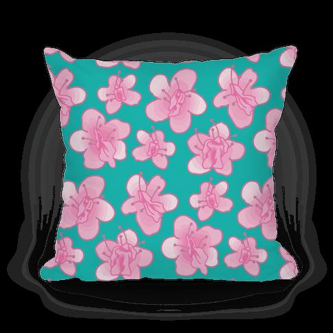 Cherry Blossom Vagina Pattern Pillow