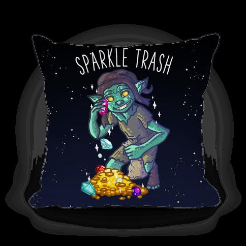 Sparkle Trash Goblin Pillow