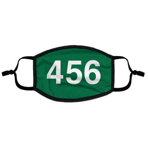Player Numbers Flat Face Mask
