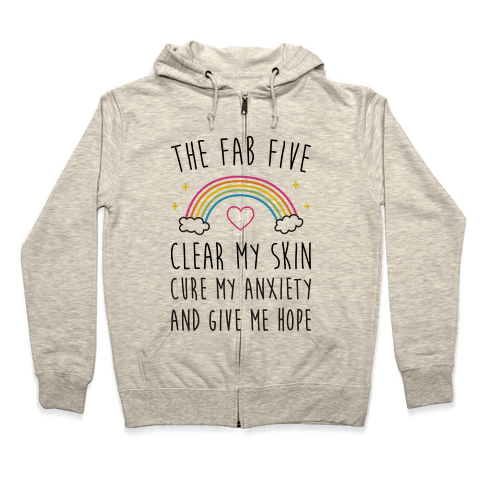 The Fab Five Cure Me Zip Hoodie