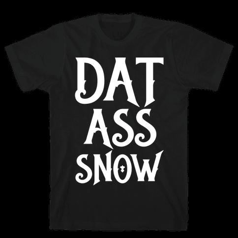 Dat Ass Snow Parody White Print Mens T-Shirt