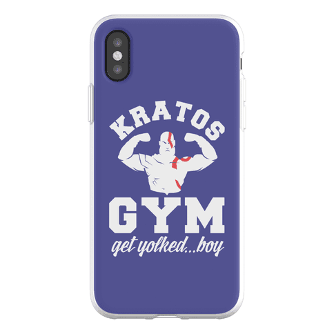 Kratos Gym Get Yolked Boy Phone Flexi-Case