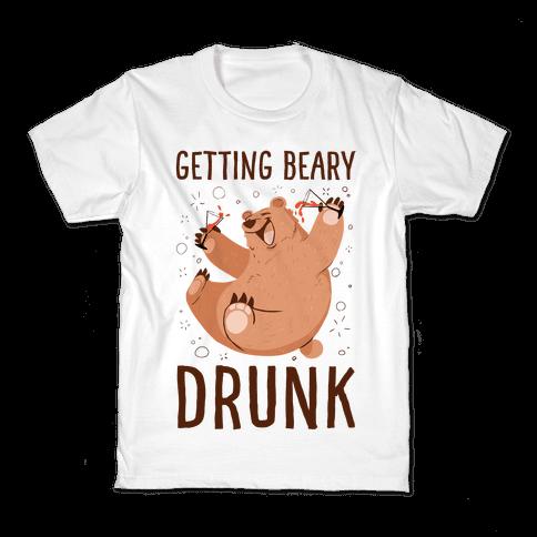 Getting Beary Drunk Kids T-Shirt
