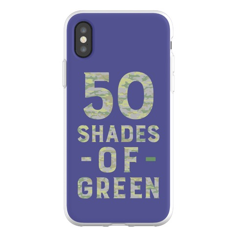 50 Shades of Green Phone Flexi-Case