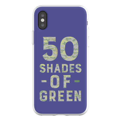 50 Shades Of Green Phone Flexi Case