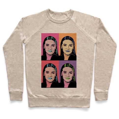 Alexandria Ocasio-Cortez Pop Art Parody Pullover