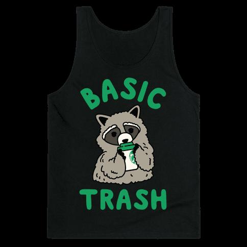 Basic Trash Coffee Raccoon Tank Top