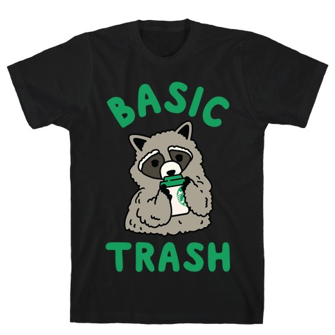 Basic Trash Coffee Raccoon Mens T-Shirt