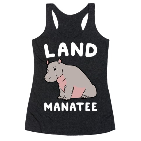 Land Manatee  Racerback Tank Top