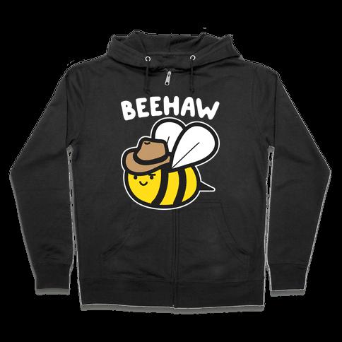 Beehaw Cowboy Bee Zip Hoodie
