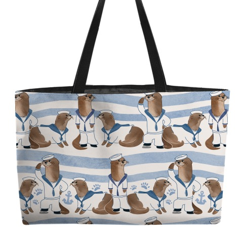 Sea Sailor Otters Weekender Tote