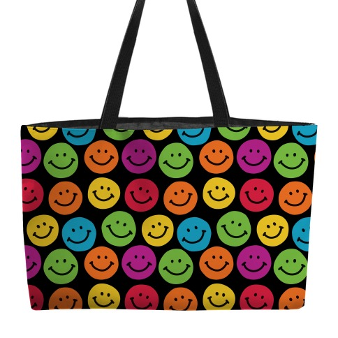 Smiley Sticker Pattern Weekender Tote