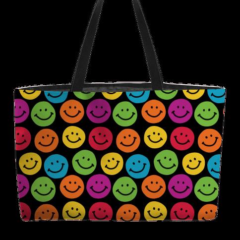 Smiley Sticker Pattern Weekender Tote