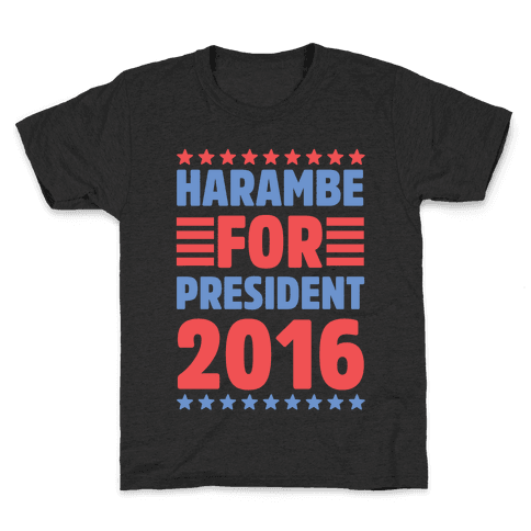 Harambe For President 2016 Kids T-Shirt