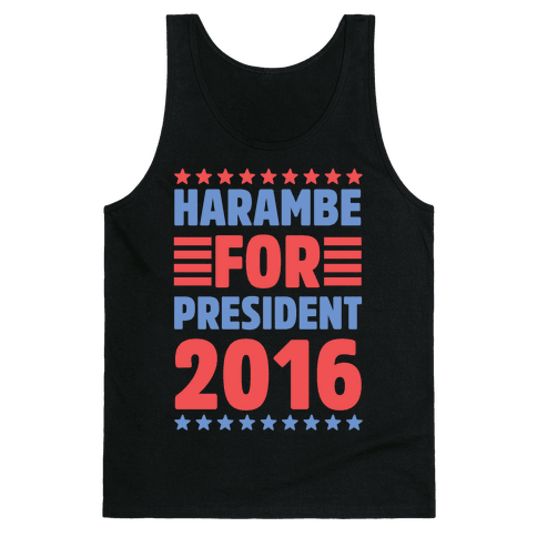 Harambe For President 2016 Tank Top