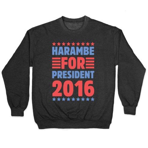 Harambe For President 2016 Pullover
