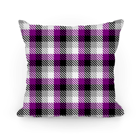 Ace Pride Flag Plaid Pillow